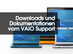 Downloads und Dokumentationen vom VAIO Support