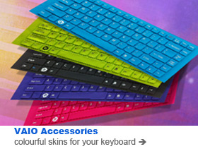 Colourful keyboard skins for your VAIO