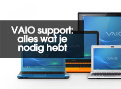 Vind downloads en documentatie bij VAIO Support
